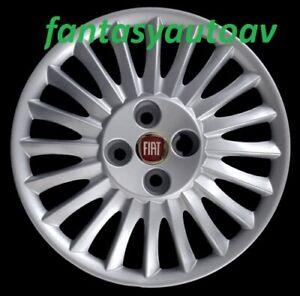 Fiat-Grande-Punto-Set-4-Pezzi-Borchie-Coppa-Ruota-Copri-Cerchi-ruota-15-L-R