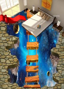 3D puente planetas Papel Pintado Mural Parojo Impresión de suelo 55 5D AJ Wallpaper Reino Unido Limón