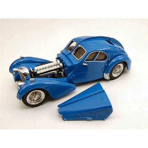 BUGATTI 57 SC ATLANTIC 1938 blu 1:43 Rio Auto d'Epoca Die Cast Modellino