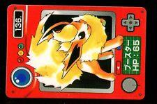POKEMON JAPANESE BANDAI POCKET MONSTERS POKEDEX N°  136 FLAREON PYROLI