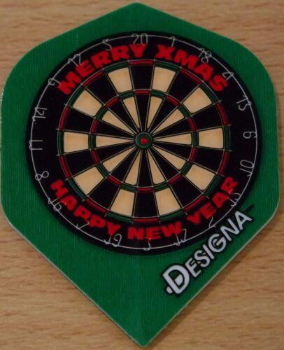 "5 Sets /""Assorted/"" Christmas100 Micron Extra Strong Standard Dart Flights 5X3"