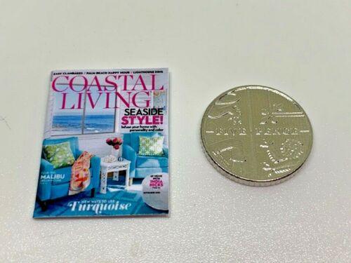 Handmade 1:12th Scale miniature maison de poupées Coastal Living Magazine