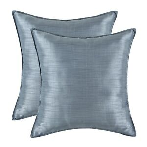 Surprising Details About Pack Of 2 Silky Throw Pillow Cover Gray Light Weight Dyed Striped Sofa 18 X 18 Gmtry Best Dining Table And Chair Ideas Images Gmtryco