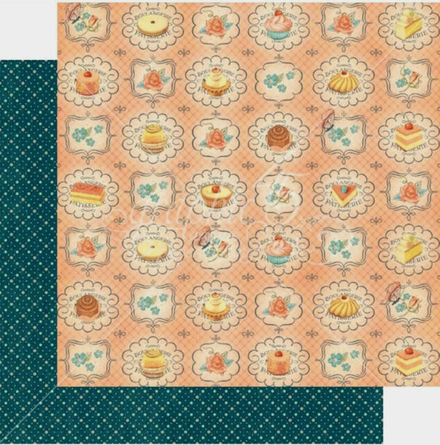 4 Page Graphic 45 Cafe Parisian Upper Crust Cardstock Paper Pastry Cake Pettifor