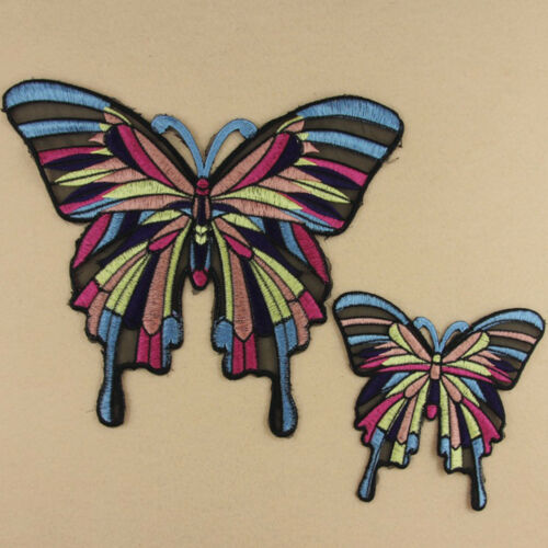 LC/_ Butterfly Sew Iron On Patch Embroidered DIY Cloth Bag Fabric Applique Exqu