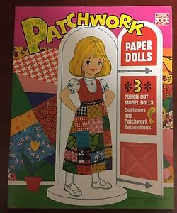 Patchwork-Paper-Dolls-Books-from-the-70-039-s-Uncut-GREAT-SHAPE