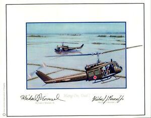 Michael J. Novosel Sr. & Jr. Vietnam Dustoff Medal of Honor MOH Signed Art Print
