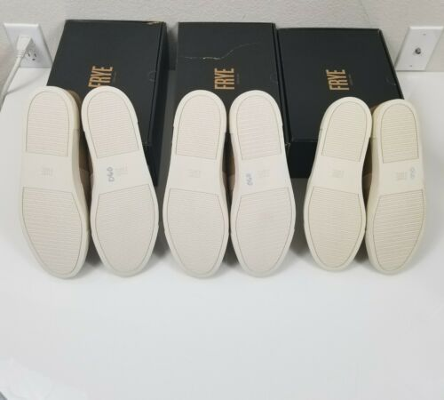 FRYE Women Ivy Slip On Gold Casual Loafers Fashion Sneakers Shoes