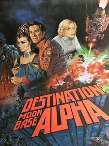 "SPACE: 1999 ""Destination Moonbase Alpha"" Original Movie Poster, Rolled, 27x40"