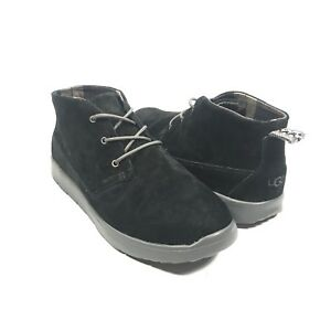 414d2e74b24 UGG Kids size 6 Canoe Black Suede Lace Up Ankle Sneaker Boots Chukka ...