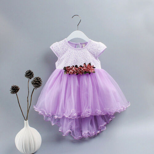 1pc Kids Baby Girls summer Princess Birthday Dress Pageant Party dress flower