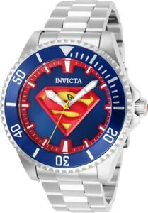 Invicta-26896-DC-Comics-Superman-Men-039-s-47mm-Automatic-Stainless-Steel-Blue-Dial
