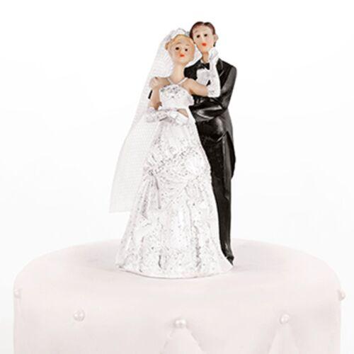Hochzeitstortenfiguren Er führt Sie rechts 11 cm Hochzeitstorte Tortendeko