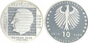 Konrad Brown Tabakbraun 2010 Mint Mark G Proof, IN Coin Capsule