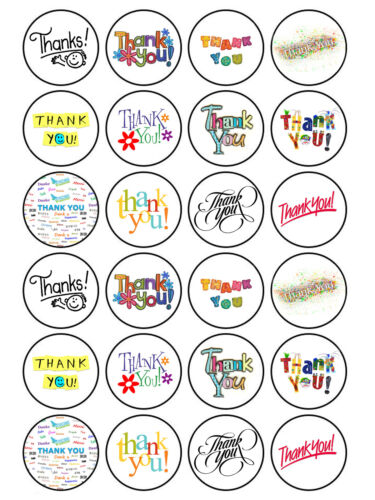 24 X Comestible Thankyou ami Professeur Maman Papa Muffin Gâteau Cup Cake Toppers