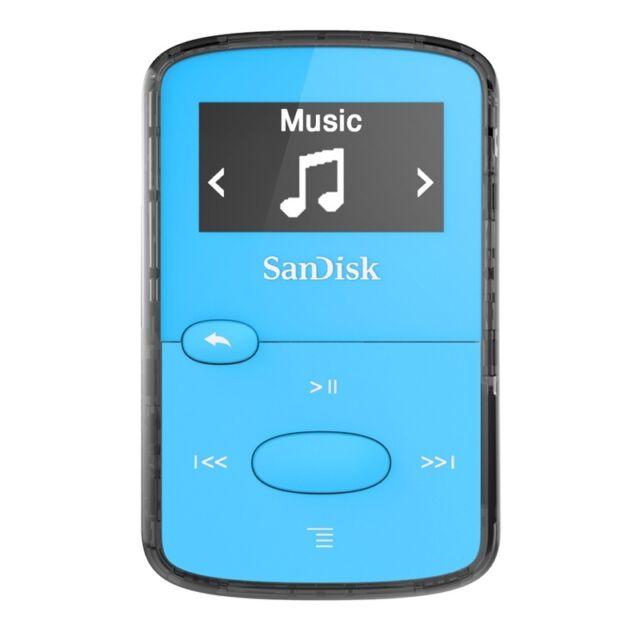 Sandisk Clip Jam 8gb MP3 Lecteur Bleu avec LCD Nouveau UK SDMX26-008G-G46B