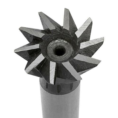 3//4 Inch Cutting Diameter 60 Degree Straight Shank HSS Dovetail Milling Cutter