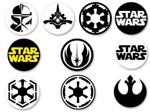 Lot Pack Magnet Aimant Frigo Ø38mm Logo Insigne Star Wars La Guerre des étoiles