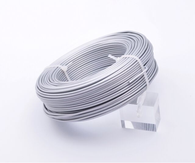 1Roll 47meters 12Gauge 2.0mm Aluminum Wrap Craft Wire Jewelry Making White K