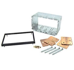 Doppel-DIN-Radio-Metall-Rahmen-Radioblende-Rahmen-Schacht-Halterung-Autoradio