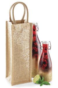 Sacchetto-Regalo-Bottiglia-Iuta-Tela-Di-Iuta-Natale-Festa-ACQUAVITE-DI-VINO-WHISKY-portare-le-borse