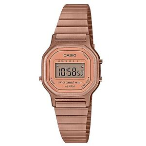 Casio Digital Pink Dial Stainless Steel Bracelet Ladies' Watch LA-11WR-5AEF