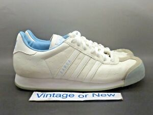 Shoes Adidas Samoa Blue Vtg Sz Light Casual Grey Women's 2005 White deCxBWro
