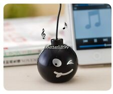 3.5mm Mini Bomb Speaker For ipod/ iphone/ PC/ Laptop/ MP3 Mp4/ Cell PhonesCNew @