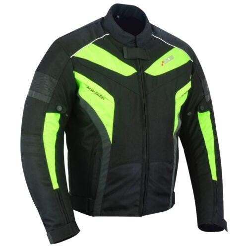 Giacca MOTO Estate Giacca Moto Uomo Biker Neon Giacca Giacca Impermeabile