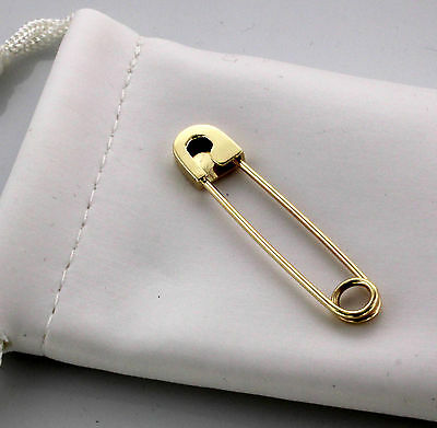 18K Yellow Gold Safety Pin Handmade in USA 1.5/'/'