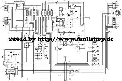 schaltplan plan elektrik a3 ca 30x40cm f r ifa multicar. Black Bedroom Furniture Sets. Home Design Ideas