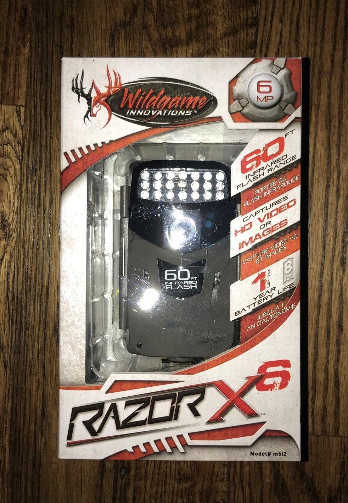 WILDGAME INNOVATIONS RAZOR X 6  CAMERA   MODEL m6i2  the newest
