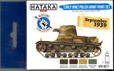 Hataka Hobby Paints EARLY WWII POLISH ARMY COLORS Blue Line Acrylic Paints