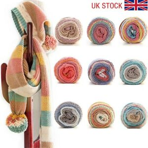 100g-Ball-Soft-Thick-Warm-Swirl-Cake-Wool-Yarn-Knitting-Crochet-DIY-Hand-wove-UK