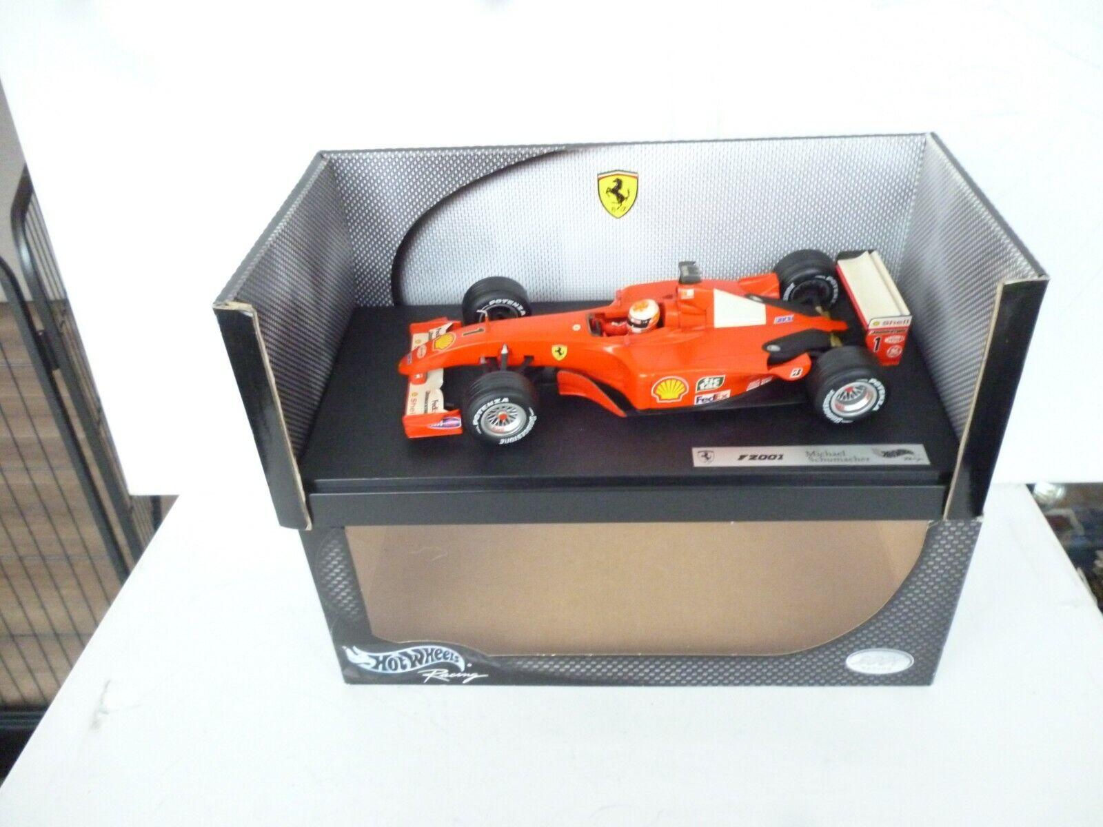 1 18 Hot Wheels Ferrari F1  NO 1  2001  M.Schumacher  NM BOX 1 18