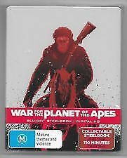 WAR-FOR-THE-PLANET-OF-THE-APES-STEELBOOK-BLU-RAY-NEW-amp-SEALED-WOODY-HARRELSON