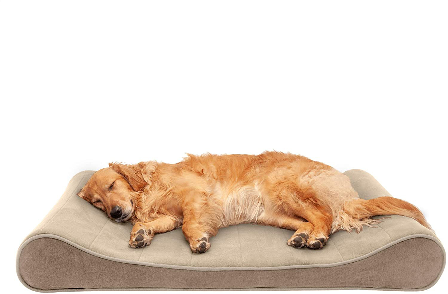 Furhaven Pet Dog Bed - Cooling Gel Memory Foam Faux Fleece and Chenille Soft Wov. Buy it now for 95.66