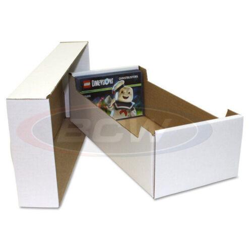BCW POSTCARD or 4X6 PHOTO WHITE CARDBOARD STORAGE BOX ORGANIZER HOLDERS 3