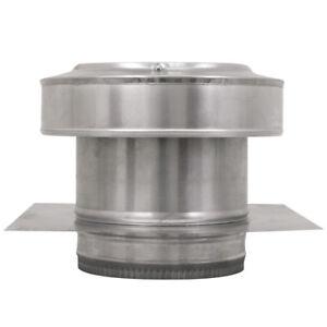 8 In Diameter Aluminum Round Back Roof Jack Vent Cap For