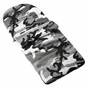 Fleece-Fusssack-Kompatibel-Mit-Bugaboo-Cameleon3-Grau-Tarnfarbe