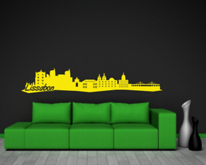 Samunshi Lissabon Skyline Wandtattoo   25 Farben 8 Größen
