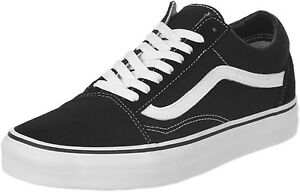 3f0e4a06a4c04b Vans Old Skool Black White Mens Womens Canvas Fashion Skate Shoes ...