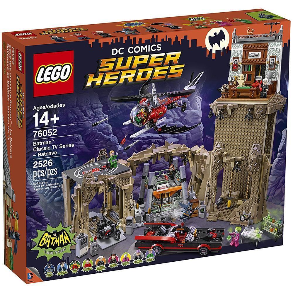 Lego Superheroes 76052 Batman classic TV series-Batcave ,fuori produzione