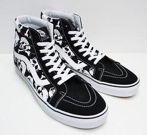 VANS SK8-HI (Skulls) Black/ White VN