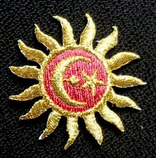 #3756 Gold Hollow Star,Sliver Moon,Black Star Embroidery Iron On Applique Patch