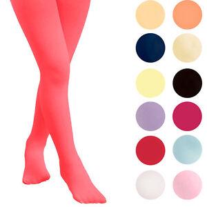 Kids-Fashion-filles-Plaine-semi-Collants-opaques-40-deniers-COULEURS-differents-annees-06-14