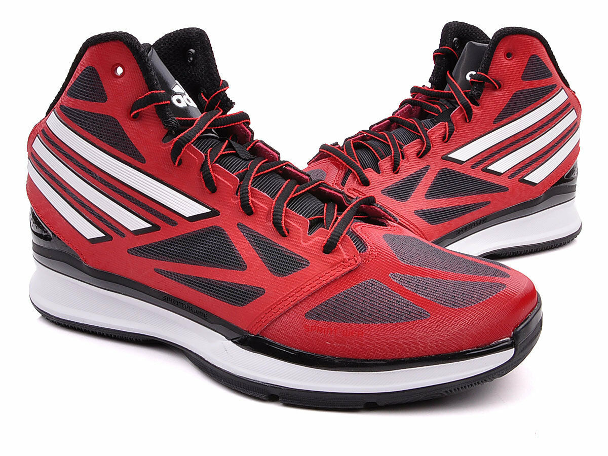 NEW ADIDAS PRO SMOOTH MENS Red Black derrick rose crazy BASKETBALL NWT Brand discount
