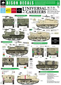 Bison-Decals-1-35-Universal-Carriers-British-NZ-Indian-French-Polish-35205