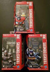 Transformers R.E.D. Lot (3) (Soundwave, Optimus Prime, & Megatron)