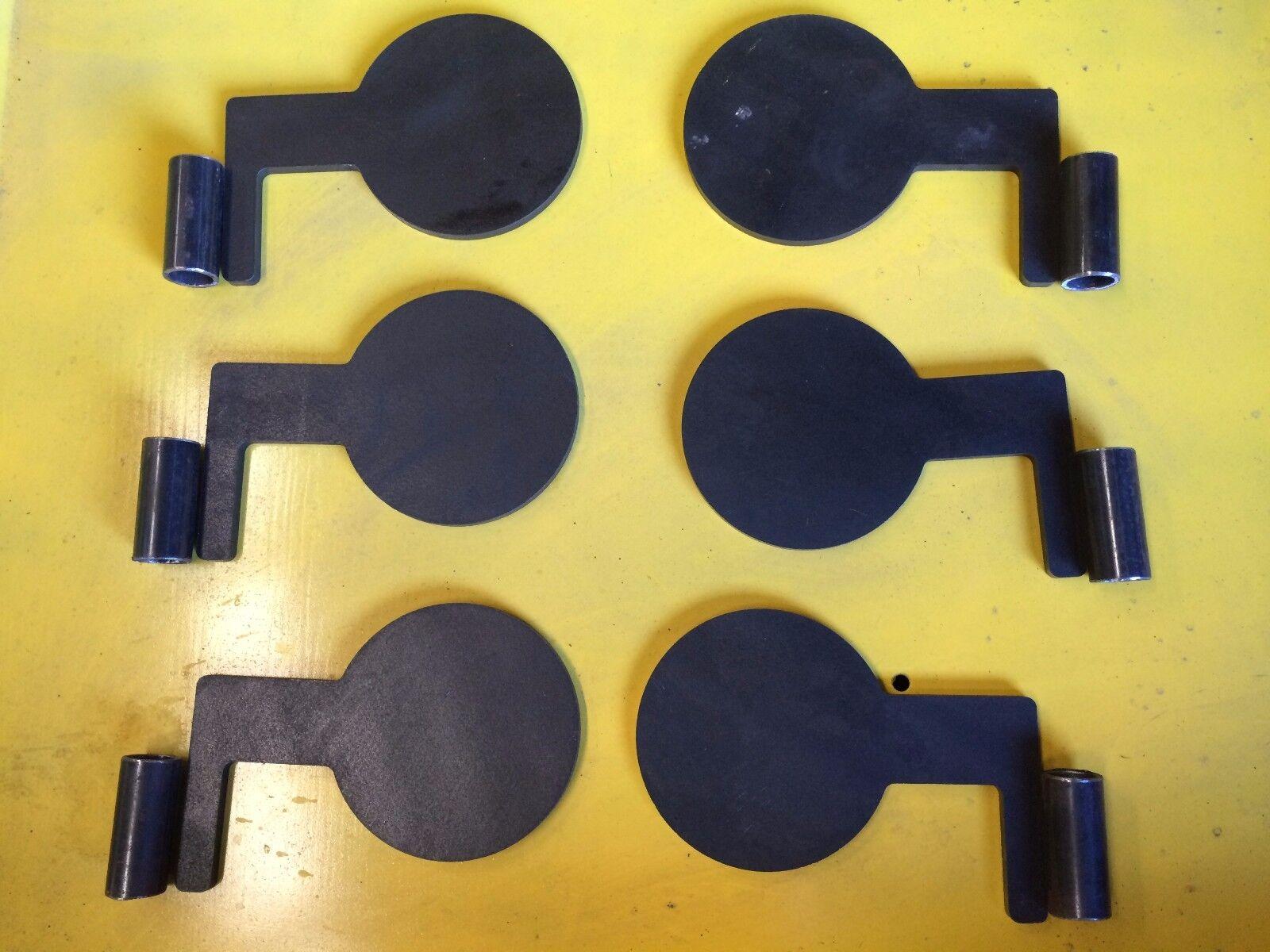 Duel Arbre Pad 3 8  X 3  Jambe X 7 8 leg largeur x 5  diam AR500 set 6 pcs avec tuyaux